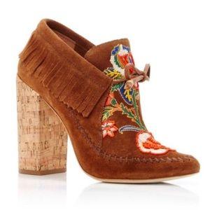 Tory Burch Huntington Leather Boho Platform Heels